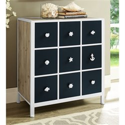 Powell Furniture Beaufort Cabinet in Navy and White