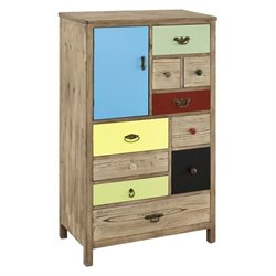 Powell Furniture Pamlico Cabinet in Natural Fir
