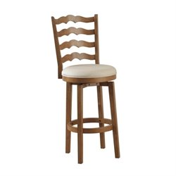 Powell Furniture Swivel Ladder Back Bar Stool