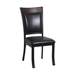 Powell Furniture Franklin Dining Side Chair (Set of 4) in Rustic Umber