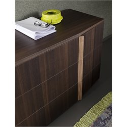 Rossetto Tratto 3 Drawer Dresser in Rich Oak