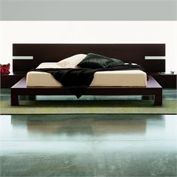 Rossetto New Win Panel Bed without Lights in Wenge