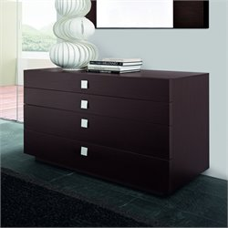 Rossetto New Win 4 Drawer Dresser in Wenge