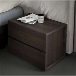 Rossetto Gola Termotrattato Nightstand in Oak