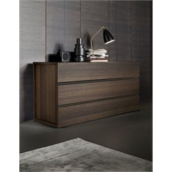 Rossetto Gola Termotrattato 3 Drawer Dresser in Oak