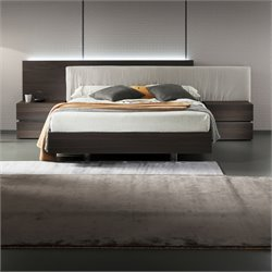 Rossetto Edge Termotrattato Platform Bed in Oak