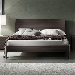 Rossetto Divine Queen Sleigh Platform Bed in Oak