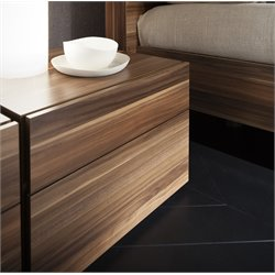 Rossetto Start Termotrattato Nightstand in Walnut