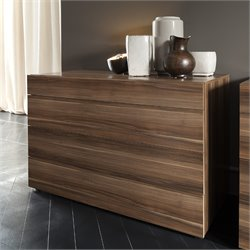 Rossetto Start 4 Drawer Dresser in Termotrattato Walnut