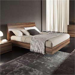 Rossetto Vela Platform Bed in Walnut
