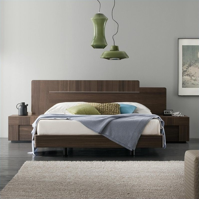 Rossetto Air Platform Bed In Warm Oak AIR QS KS BED