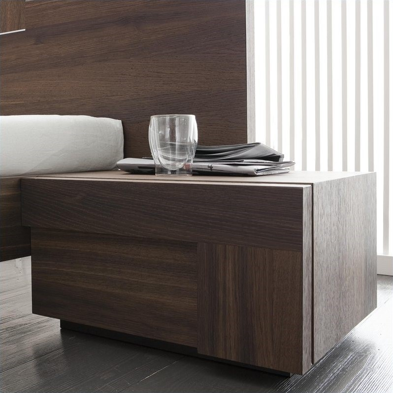 Rossetto Air Right 1 Drawer Night Stand In Warm Oak T422500100010