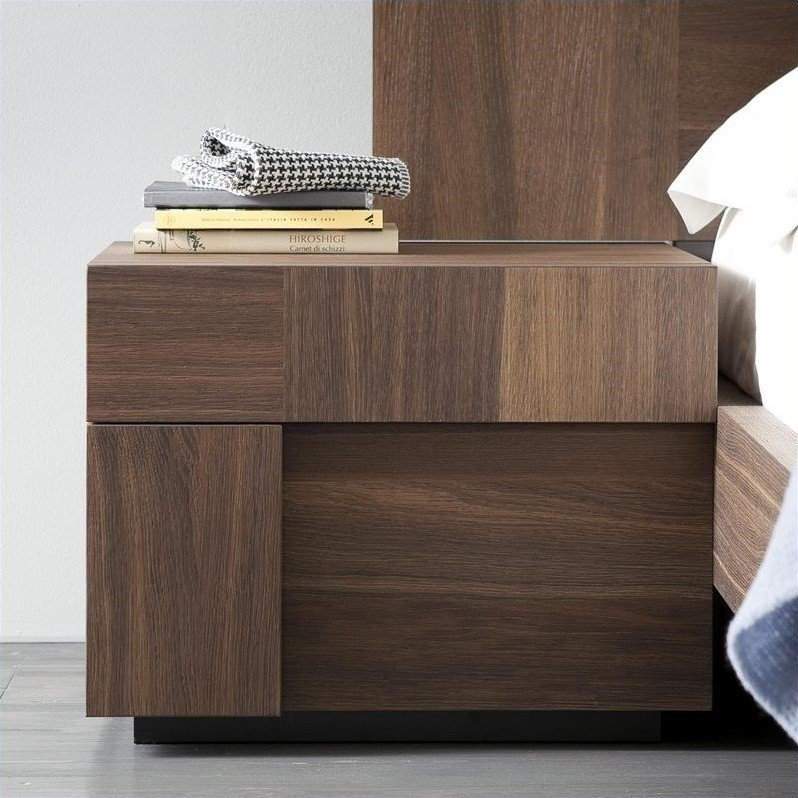 Rossetto Air Left 1 Drawer Night Stand In Warm Oak T422500110010