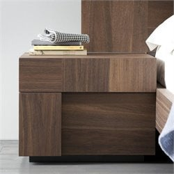 Rossetto Air Left 1 Drawer Night Stand in Warm Oak