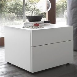 Rossetto White Matrix Night Stand in White