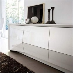 Rossetto Sapphire 74 Inch Wide 4 Drawer Buffet in White