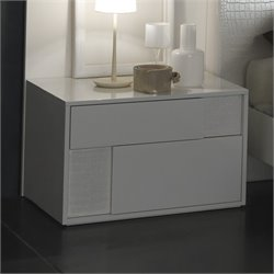 Rossetto Nightfly Left Night Stand in White