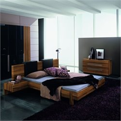 Rossetto Gap Platform Bedroom Set in Walnut