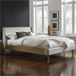 Fashion Bed Palmer Upholstered Platform Bed in Flax