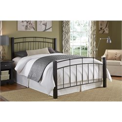 Fashion Bed Scottsdale Metal Platform Bed in Black Speckle