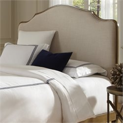 Upholstered Queen Metal Headboard in Natural Oak