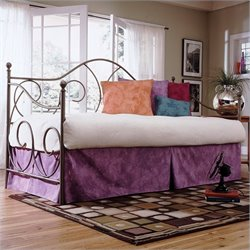 Fashion Bed Caroline Metal Daybed in Flint