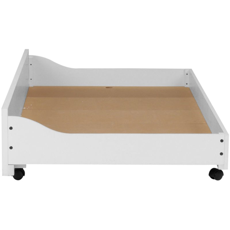 Under Pull Out Trundle in White Finish