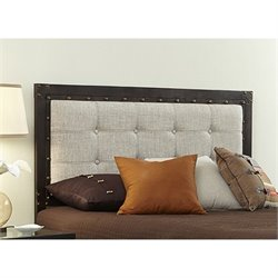 Headboard in Latte and Brushed Copper