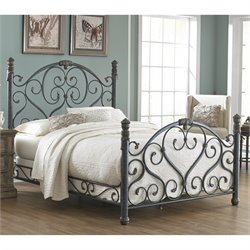 Fashion Bed Duchess Marble Bed in Cerulean