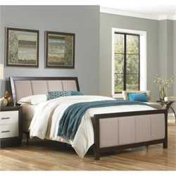 Fashion Bed Monterey Panel Upholstered Bed in Espresso