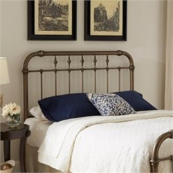 Fashion Bed Vienna Metal Headboard in Aged Gold