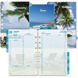 Day-Timer Coastlines 2 Pages Per Day Daily Refill