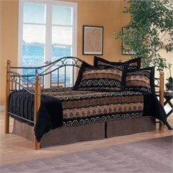 Hillsdale Winsloh Metal and Wood Post Daybed in Oak Finish