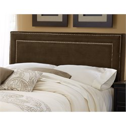 Amber Upholstered Headboard in Brown