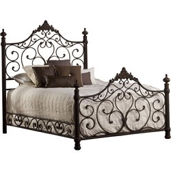 Baremore Poster Bed in Antique Brown