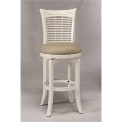 Bayberry Swivel Bar Stool in White