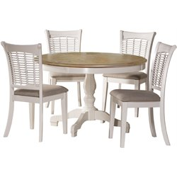 Bayberry 5 Piece Dining Set in White