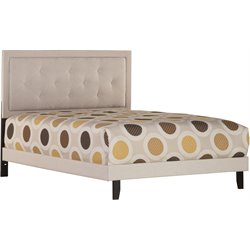Becker Upholstered Panel Bed in Cream