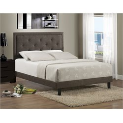 Becker Upholstered Panel Bed in Black
