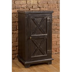 Hillsdale Bellefonte 1 Door Accent Chest in Antique Black