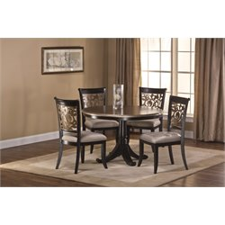 Hillsdale Bennington 5 Piece Round Dining Set in Black