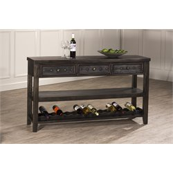 Hillsdale Bolt Wine Rack Console Table in Dark Gray