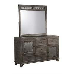 Bolt 4 Drawer Dresser in Light Graywash