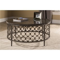 Hillsdale Brescello Round Coffee Table in Charcoal