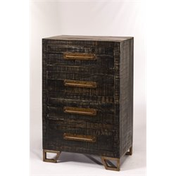 Hillsdale Bridgewater 4 Drawer Accent Chest in Black