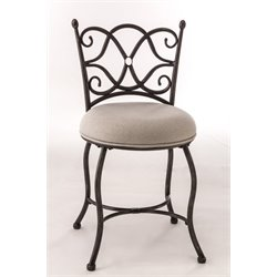 Hillsdale Brody Vanity Stool in Gray