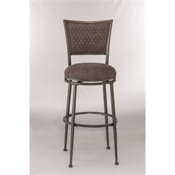Burke Swivel Bar Stool in Distressed Pewter