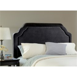 Hillsdale Carlyle Upholstered King Panel Headboard in Black