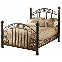 Chesapeake Poster Bed in Rustic Old Brown