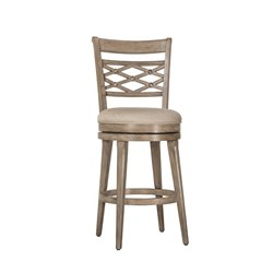 Chesney Swivel Bar Stool in Weathered Gray